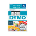 Cinta Dymo D1 6mm negro/blanco