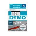 Cinta  Dymo D1 plástico 19mm negro/blanco