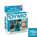 Etiquetas para Dymo 450 blanca 25 x 25 mm