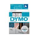 Cinta Dymo D1 12mm negro/transparente