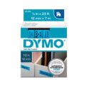 Cinta Dymo D1 12mm negro/azul