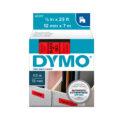 Cinta Dymo D1 12mm negro/rojo