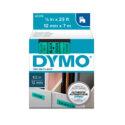 Cinta Dymo D1 12mm negro/verde