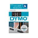Cinta Dymo D1 12mm blanco/negro