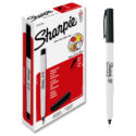 Marcador permanente Sharpie Ultrafine negro caja x 12 und
