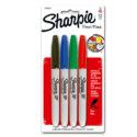 Marcador permanente Sharpie Fine colores surtidos blíster x 4 und