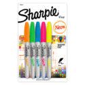 Marcador permanente Sharpie neón colores surtidos blíster x 5 und