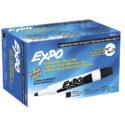 Marcador borrable Expo negro caja x 12 und
