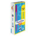Bolígrafo Paper Mate kilométrico 100 RT magenta caja x 12 und